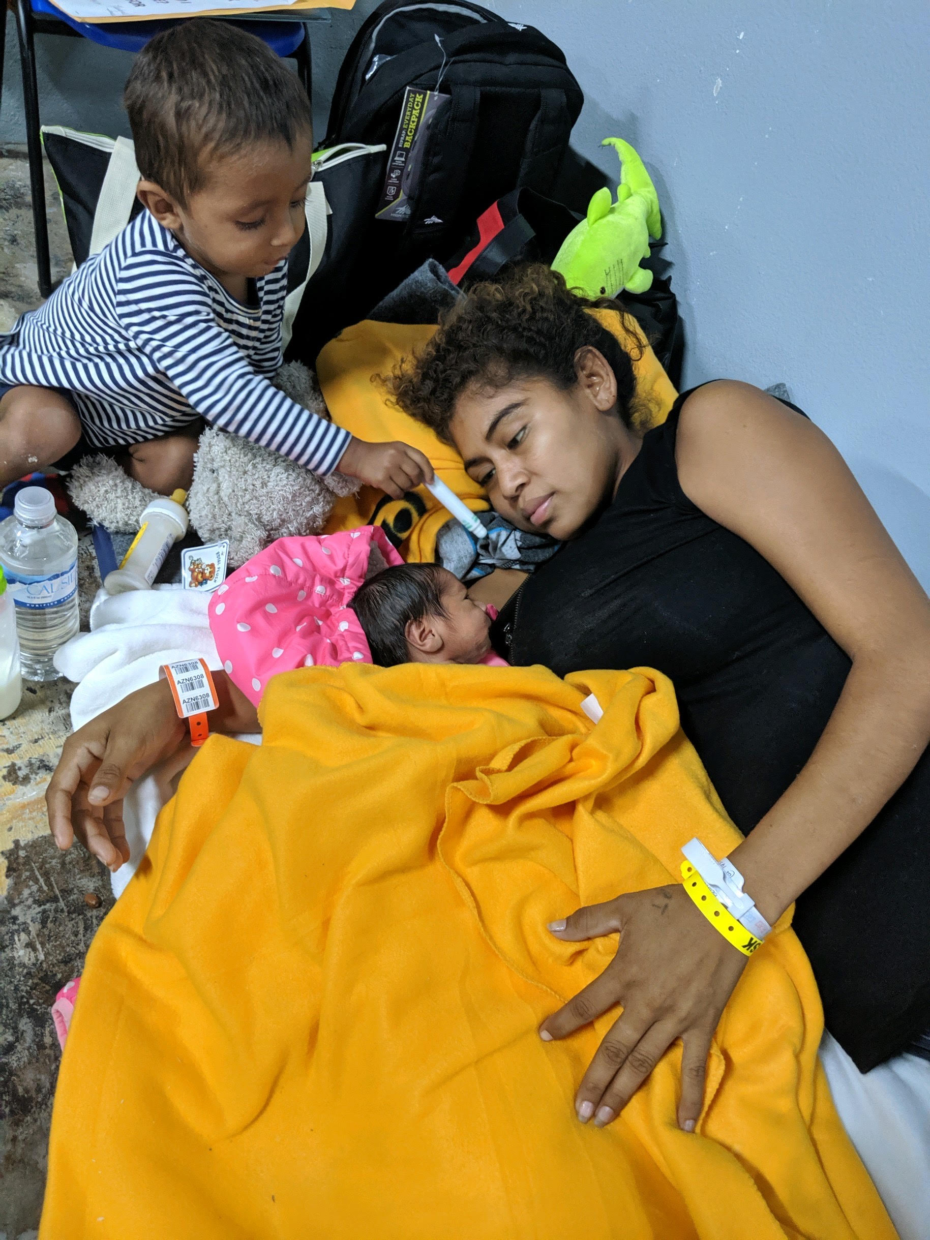 Woman and baby at the border in McAllen, TX